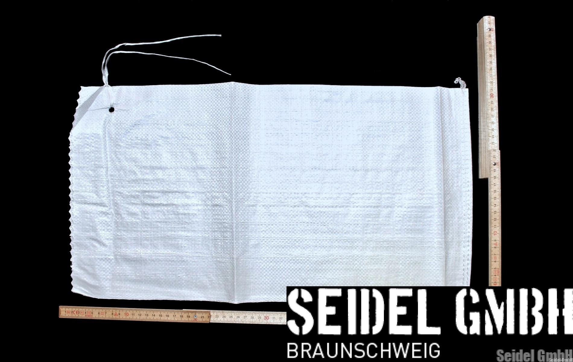 PP Sandsäcke PP weiß ungefüllt PP-Sandsäcke weiß 30 x 60 cm