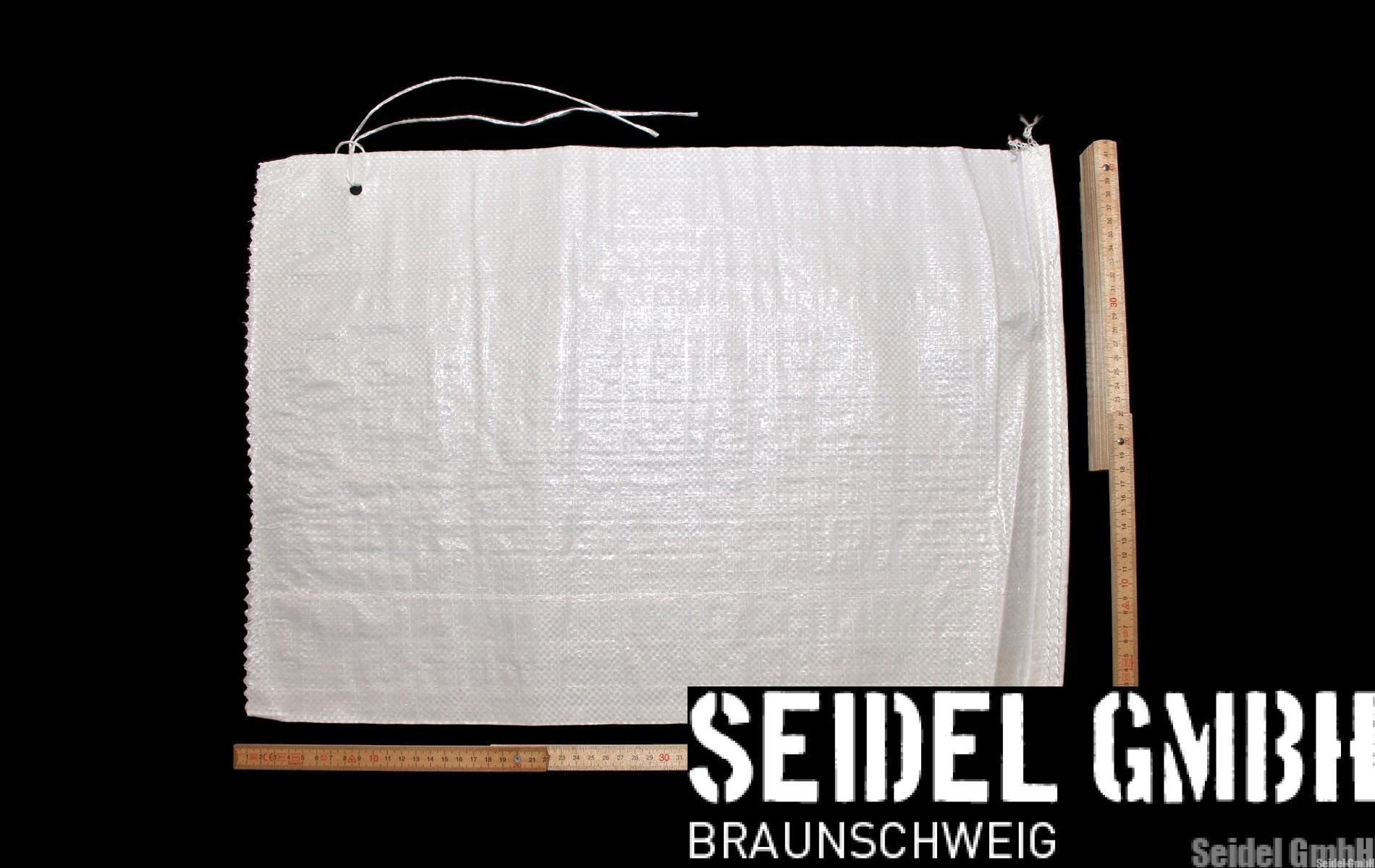 PP Sandsäcke PP weiß ungefüllt PP-Sandsäcke weiß 40x60 cm