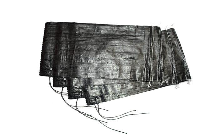Sandsäcke PP leer 30x60 cm PP-Sandsäcke schwarz ungefüllt