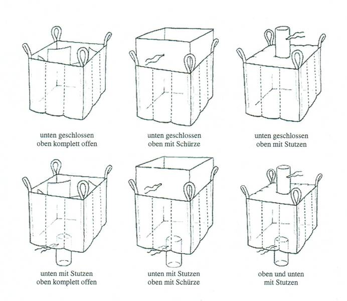 Big Bag variable Ausführung bzw. Big Bag Varianten