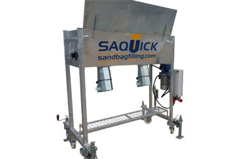 Sandsackfüllmaschine SAQUICK TITAN 1200 mit zwei Abfüllstutzen