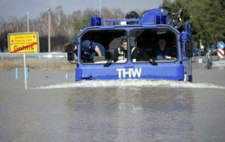 Katastrophenschutz: das THW beim Hochwasser-Einsatz