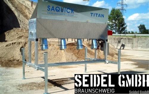 Sandsackfüllmaschine SAQUICK TITAN2400 im Einsatz