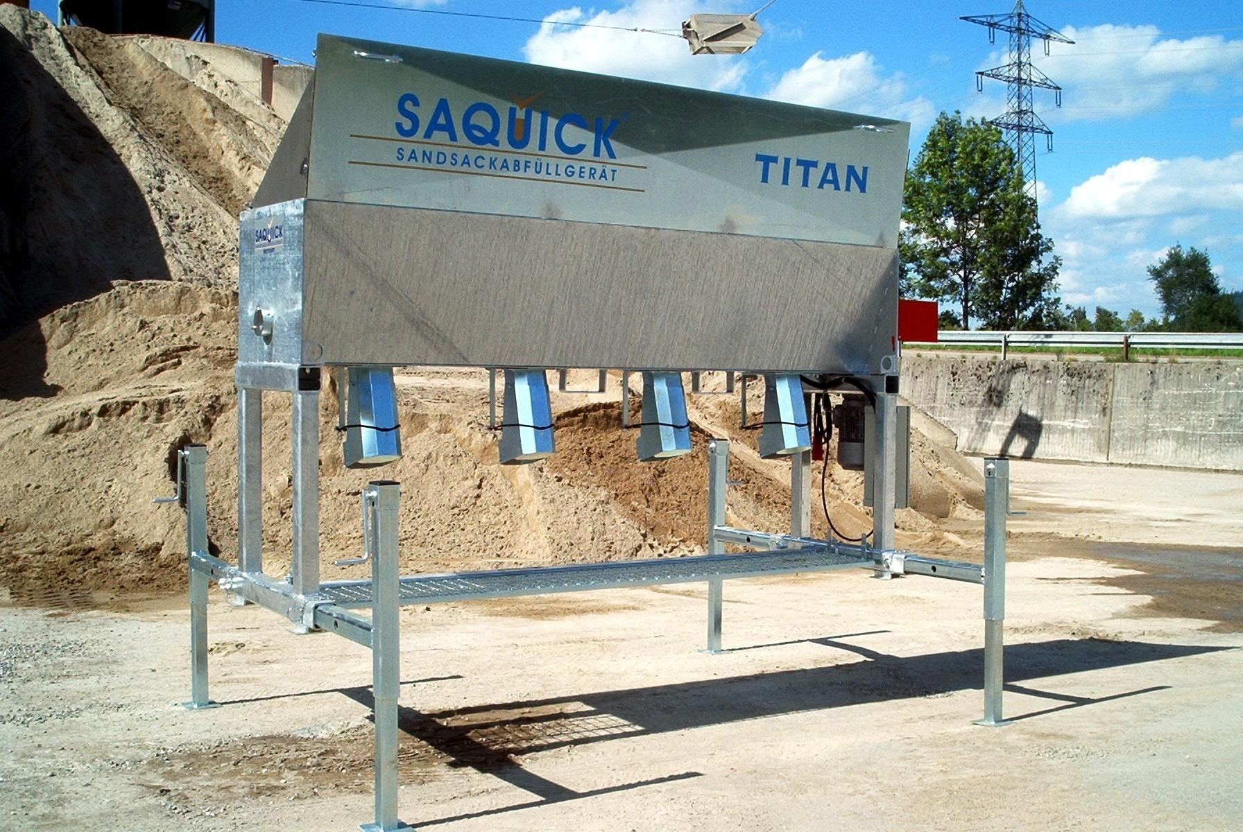 Fülltechnik für Sandsäcke: die SAQUICK Titan 2400