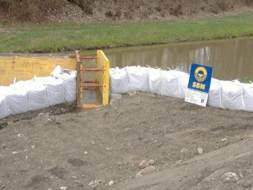 Die Big Bag Wand im Einsatz bei Wasserbau-Maßnahmen