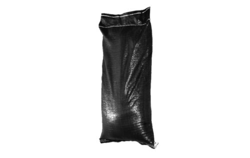 Ballastsäcke PP schwarz, gefüllt mit Sand oder Ballastsäcke PP schwarz, gefüllt mit Kies