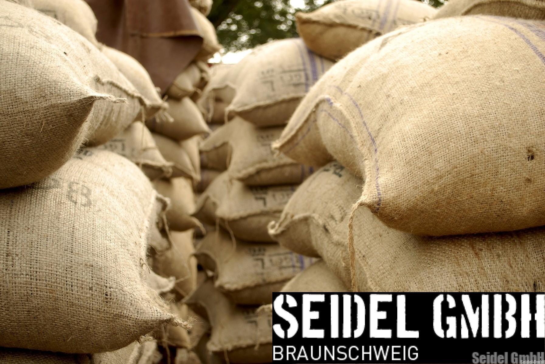 Sandsäcke Jute 30×60 cm – gefüllt - 60 Stück auf Palette