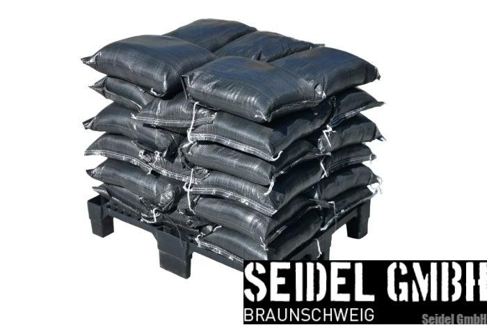 Notfall-Set Sandsaecke PP schwarz 30x60 cm für Privat-Kunden und Firmen